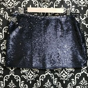 TEALF ] BLACK SHIMMER SEQUINS SKIRT